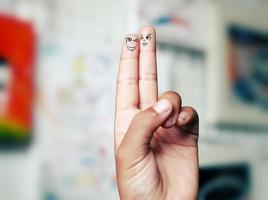 zwei verliebte Finger,