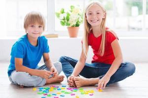 spielen und lernen. foto