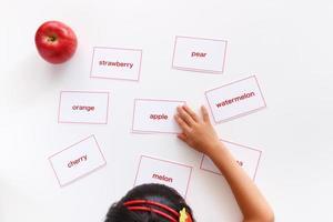 Studium des englischen Wortes foto