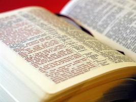 Lederbezug der Heiligen Bibel foto