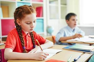 Schulmädchen Zeichnung foto