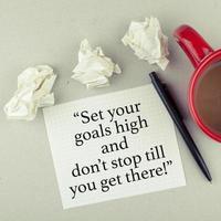 inspirierende motivierende Zitatnotiz