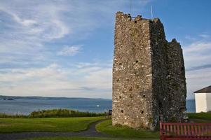 Ruinen von Tenby Castle foto