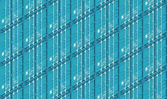 blaue Metallfrachtversandbehälter, 3d Illustration