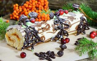 Weihnachten Yule Log oder Buche de Noel