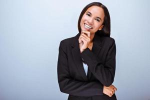 Konzept für multiethnische Geschäftsfrau foto