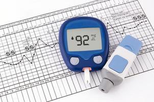 Testen des Blutzuckerspiegels. Test auf Diabetes vor der Schwangerschaft foto