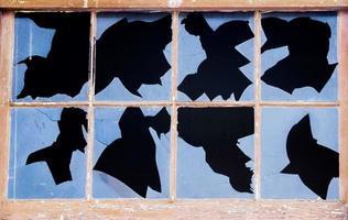 Rorschach-Test für zerbrochenes Fenster foto