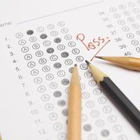 standardisiertes Testformular mit Antworten foto