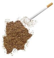 Zigarette und Tabak in Botswana-Form (Serie) foto