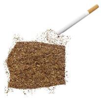 Zigarette und Tabak in Form von Äquatorialguinea (Serie) foto