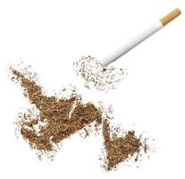 Zigarette und Tabak in Neufundlandform (Serie) foto