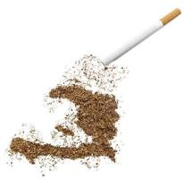 Zigarette und Tabak in Haiti-Form (Serie) foto
