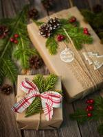 handgemachtes Geschenk für Weihnachten foto