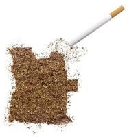 Zigarette und Tabak in Angola-Form (Serie) foto