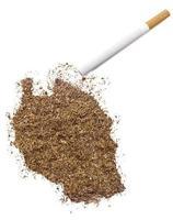 Zigarette und Tabak in Tansania-Form (Serie) foto