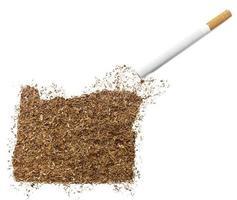 Zigarette und Tabak in Oregonform (Serie) foto