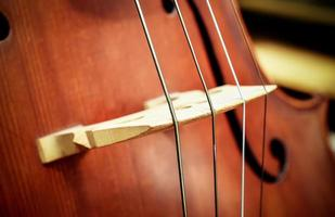Cello - Orchester Musikinstrumente foto