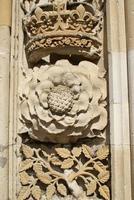 Tudor Rose und Krone foto