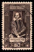 USA Vintage Briefmarke von William Shakespeare foto