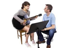 Musikunterricht mit Gitarre
