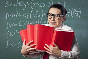 nerdiger Mathematiklehrer foto