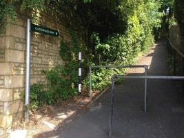 Cotswold Way Marker im Bad, Somerset, England foto