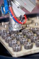 Industriemaschine mit Zahnrad foto
