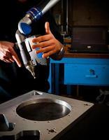 3D-Laserscanning mit Bediener foto