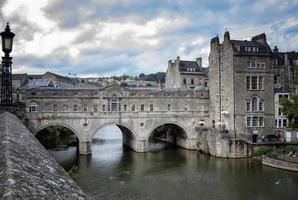 Brücke in der Stadt Bath foto