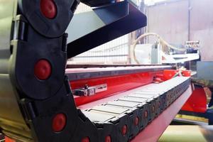 Führungsbahn der Plasmabrenner-Schneidemaschine foto