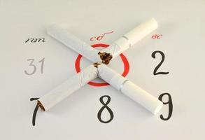 Hören Sie an diesem Tag auf, Zigaretten zu rauchen