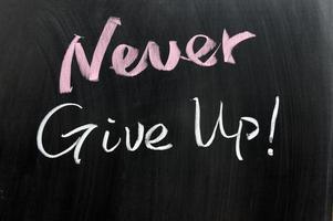 Gib niemals auf! foto