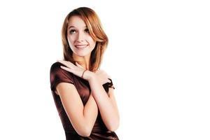 glückliche junge Frau foto