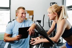 Lassen Sie uns über Ihren Trainingsplan sprechen foto