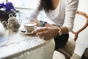 in einem Café foto