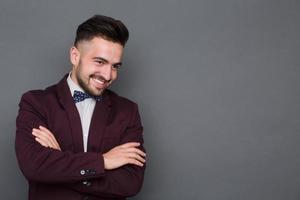 Hipster Mann im Business-Anzug