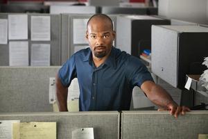 ruhiger Büroangestellter foto