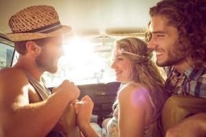 Hipster-Freunde auf Roadtrip