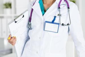 Konzept der Arztaufnahme foto