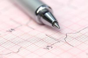 Elektrokardiograph mit Stift foto