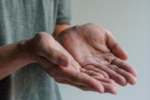 männliche Hände foto