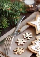 rustikales Weihnachtsgedeck