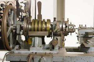 alte Uhrwerkmaschinen foto