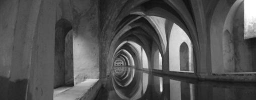 arabisches Bad schwarz und weiß foto