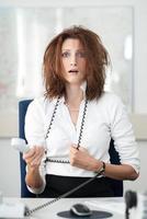 verzweifelte Geschäftsfrau