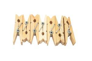 Wäscheklammern aus Holz foto