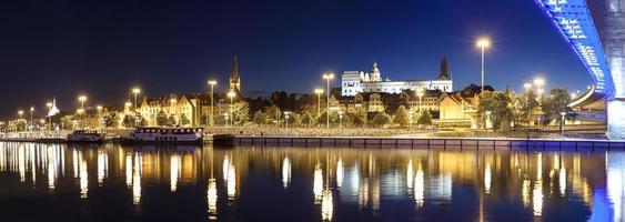 Panoramablick auf die Stadt Stettin (Pettin) mit pommerschen Herzögen