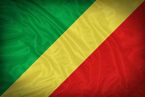 Kongo-Flaggenmuster auf der Stoffstruktur, Weinlesestil foto