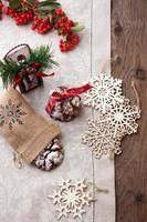 Schokoladentrüffelkekse zu Weihnachten foto
